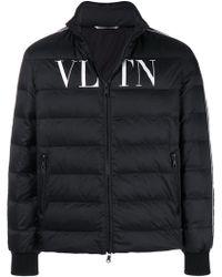 Valentino - Logo Printed Down Coat - Lyst