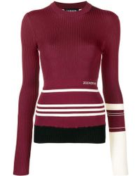 CALVIN KLEIN 205W39NYC - Cotton Sweater With Stripes - Lyst