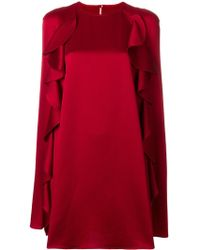 Valentino - Dress With Rouches - Lyst