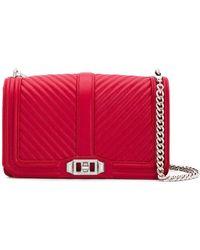Rebecca Minkoff - Love Leather Crossbody Bag - Lyst