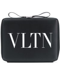 Valentino - Laptop Bag With Vltn Logo - Lyst