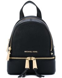 3e828a1eea1d4 MICHAEL Michael Kors - Rhea Zip Xsmall Leather Backpack - Lyst