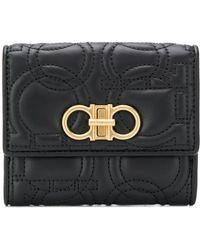 Ferragamo - Gancino Quilting Leather Wallet - Lyst