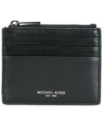 MICHAEL Michael Kors - Zipped Leatehr Card Holder Wallet - Lyst