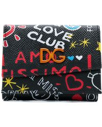 Dolce & Gabbana - Graffiti Printed Wallet - Lyst