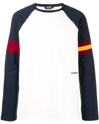 CALVIN KLEIN 205W39NYC - Bicolor Long Sleeves T-shirt - Lyst
