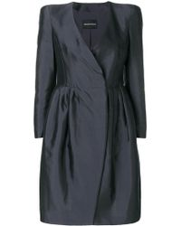 Emporio Armani - Silk And Cotton Dress - Lyst