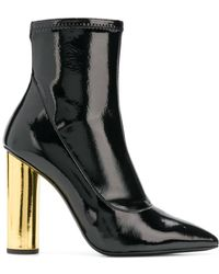 Giuseppe Zanotti - Contrast Heel Ankle Boots - Lyst