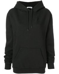 Balenciaga - Hoodie With Brushed Felt Embroidered Logo - Lyst
