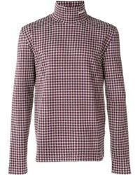 CALVIN KLEIN 205W39NYC - Jacquard Turtle-neck Sweater - Lyst