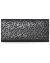 Burberry - Monogram Leather Continental Wallet - Lyst