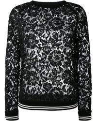 Valentino - Heavy Lace Crewneck Sweatshirt - Lyst