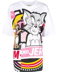 Iceberg - Tom And Jerry Print Cotton T-shirt - Lyst