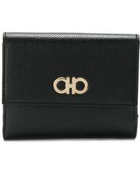 Ferragamo - Gancini Leather Wallet - Lyst