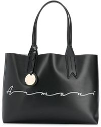 Emporio Armani - Large Shopper Bag - Lyst a01079f125fa0