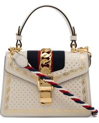 Gucci - Sylvie Handbag Embroidered - Lyst