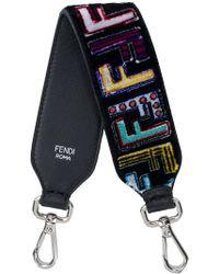 Fendi - Embridered Leather Mini Strap - Lyst