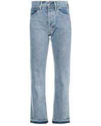Helmut Lang - Cotton Cropped Jeans - Lyst