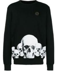 Philipp Plein - Skull Print Cotton T-shirt - Lyst