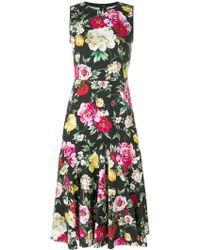Dolce & Gabbana - Floral Print Cotton Dress - Lyst