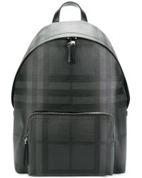 Burberry - Backpack With London Check Pattern And Leather Trim - Lyst