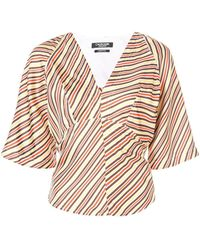 CALVIN KLEIN 205W39NYC Silk Multicolor Top