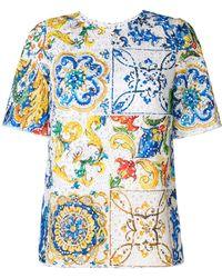 Dolce & Gabbana - Maiolica Printed Top - Lyst