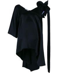 Valentino - Asymmetric Sleeve Blouse - Lyst