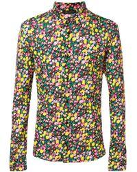 Versace - Camicia In Seta Con Stampa - Lyst