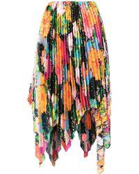 Richard Quinn - Mix Floral Pleated Skirt - Lyst