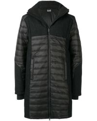 EA7 - Down Coat With Logo - Lyst