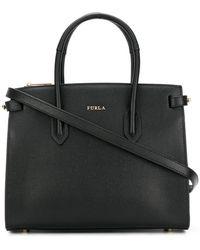 Furla - Pin Leather Shoulder Bag - Lyst