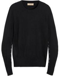 Burberry - Merino Wool Jumper With Tartan Details - Lyst