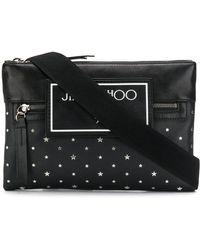 Jimmy Choo Kimi Star Studded Messenger Bag - Black