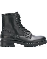 Ash - Wolf Leather Boots - Lyst