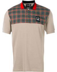 Fred Perry - Check Yoke Piqué Polo Shirt - Lyst