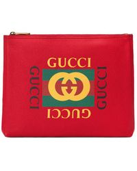 Gucci - Print Leather Wallet - Lyst