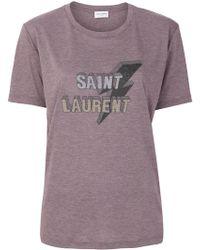 Saint Laurent - Cotton T-shirt - Lyst