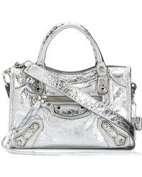 Balenciaga - City Metallic Leather Mini Shoulder Bag - Lyst