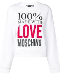 Love Moschino - Printed Logo Sweatshirt - Lyst