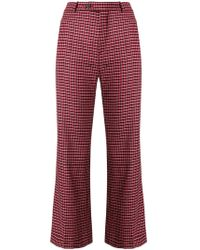 Chloé - Checked Cropped Trousers - Lyst