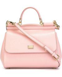 Dolce & Gabbana - Miss Sicily Leather Shoulder Bag - Lyst