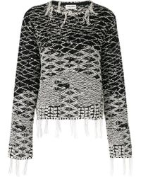 Saint Laurent - Faded Cropped Sweater - Lyst