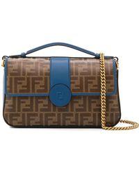 Fendi - Ff Leather Shoulder Bag - Lyst