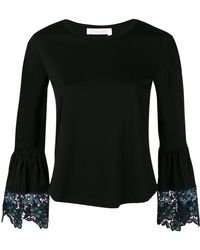 See By Chloé - Bell Sleeves Roundneck Tee - Lyst
