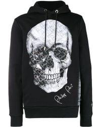 Black For Men Plein In Sweatshirt Print Philipp Logo Lyst 6Yqvaa