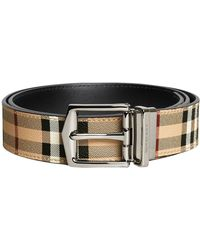 Burberry - Reversible Haymarket Check Belt - Lyst