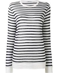 T By Alexander Wang - Long-sleeved Striped T-shirt - Lyst