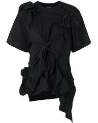 Simone Rocha - Ruched Bow T-shirt - Lyst