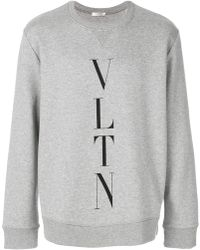 Valentino - Vltn Intarsia Sweatshirt - Lyst